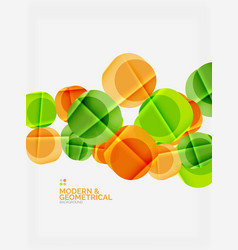 color glossy squares with round angles vector image