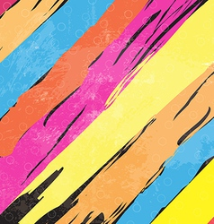 color paint stripe background vector image