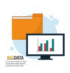 Computer file and big data design vector