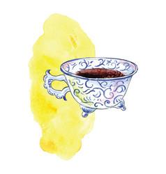 cup moroccan coffee vector image