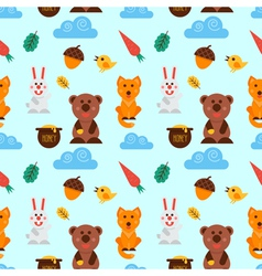 Cute forest animals vector