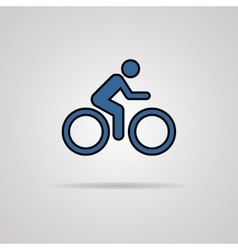 Cycling graphic symbol with shadow vector