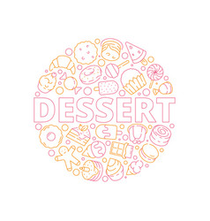 dessert background baking delicious food in vector image