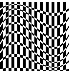 Distorted chequered checkered pattern with vector