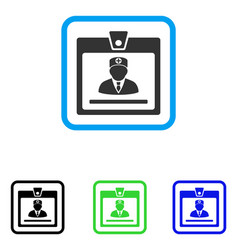 Doctor badge framed icon vector