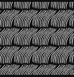 Doodle seamless pattern with abstract lines waves vector