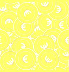European union euro gold coins seamless pattern s vector