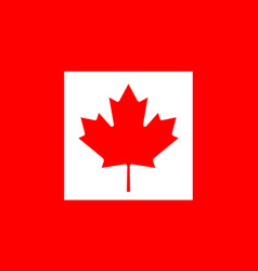 flag of canada in national official colors and vector image
