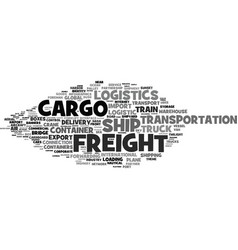 Freight word cloud concept vector