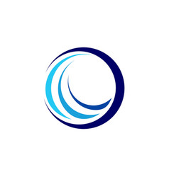 global circle sphere wave logo symbol icon vector image