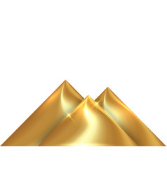 golden pyramid isolated on white background vector image