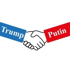 Hands Russian and US presidents vector