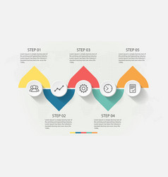 infographic design template and business icons vector image