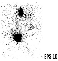 ink blobs isolated for your design vector image