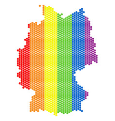 Lgbt spectrum dot germany map vector