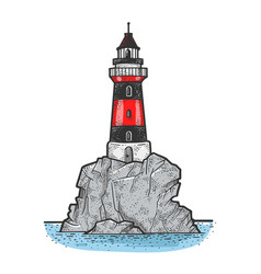 lighthouse sketch vector image