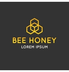 Logo bee honey vector