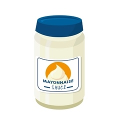 Mayonnaise sauce food vector