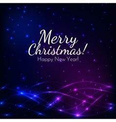 Merry Christmas and New Year greeting card vector image
