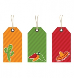 Mexican gift tags vector image