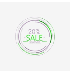 Minimal line design shopping stamps sale vector image