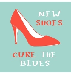 New shoes cure the blues vector