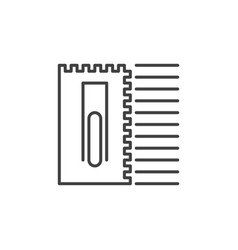 Notched trowel concept icon in outline vector