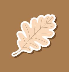Paper sticker on stylish background of oak leaf vector