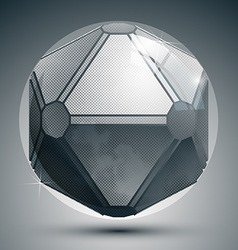 Plastic pixel grayscale dimensional sphere created vector image