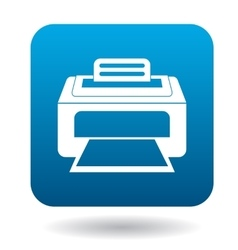 Printer icon in simple style vector image