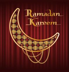 ramadan kareem islam religious greeting vector image