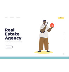 Real estate agency and property appraisal service vector