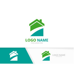 real estate construction logo architecture house vector image