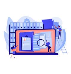 Records management concept vector