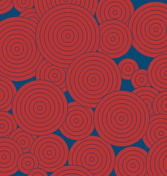 Red round pattern on blue background vertical vector