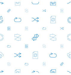 repeat icons pattern seamless white background vector image