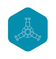 Round mechanic detail icon outline style vector