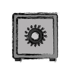 Safe box icon vector