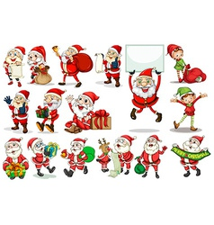 Santa actions vector image