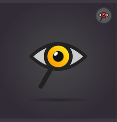 search icon with eye and magnifier vector image