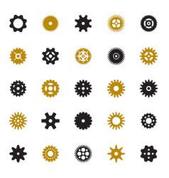 Set of gears vector