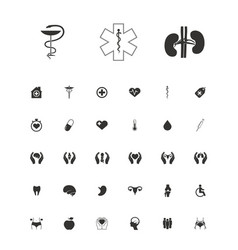 set of medical symbols vector image