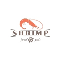 shrimp emblem vector image