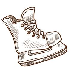 skate ice rink footwear with blade to slide vector image