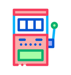 slot machine icon outline vector image