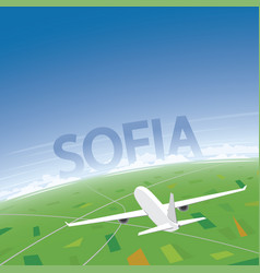 Sofia flight destination vector