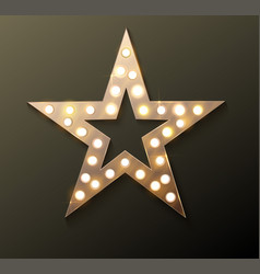 star retro light banner vector image