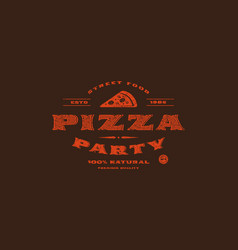 stock template of pizzeria label vector image