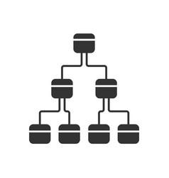 tree diagram glyph icon hierarchical system node vector image