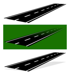 Vanishing fading two-lane road in versions simple vector